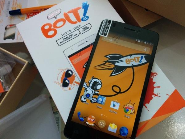 Bolt!の4G LTE対応スマートフォン IVO V5