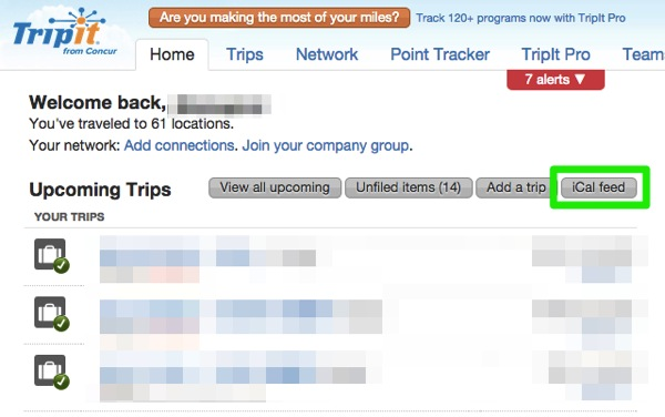 TripIt Online travel itinerary and trip planner