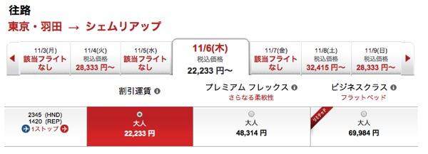 エアアジアで東京からシェムリアップへアクセスする場合の経路&料金のメモ
