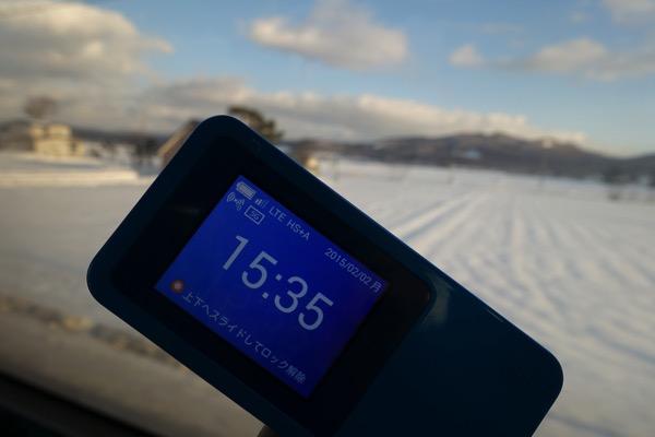 あたり一面が雪景色でも4G LTEがツナガル