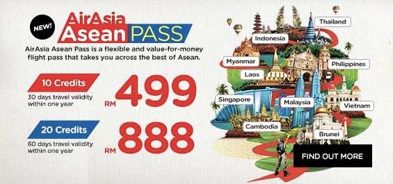 エアアジアが『ASEAN PASS』を発売! 10クレジット18,000円から – 同一ルートは1度限りなどの利用制限あり