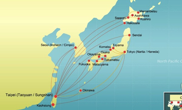 EVA AIR Global Route Map