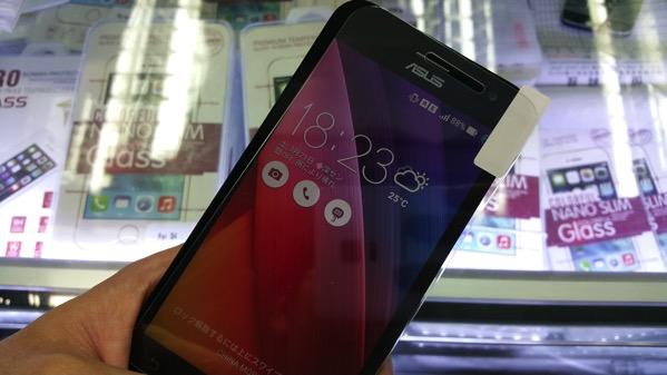 ZenFone 2用のガラスフィルムを深圳で購入