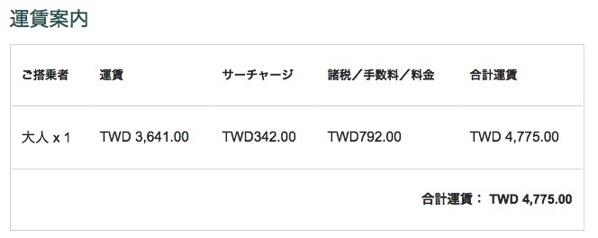キャセイパシフィック航空の台北 〜 香港を往復4,775台湾ドル(約1.8万円)で予約