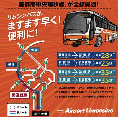 羽田空港 〜 新宿駅のリムジンバスが4月1日よりダイヤ改正!新宿駅 → 羽田空港間は最短25分に