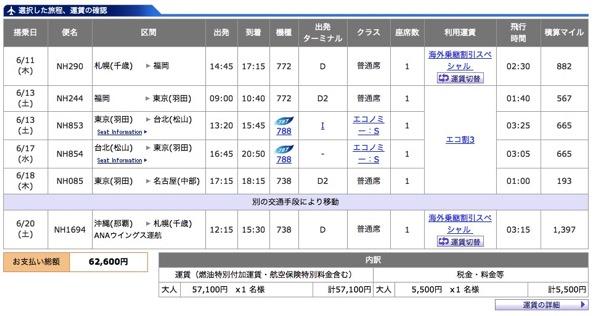 ANA、海外乗継割引スペシャルの販売を本日で終了 – 20時以降はメンテナンスで購入不可に注意