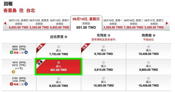 エアアジア:バリ島 → 台北が片道101台湾ドル(諸税など別)
