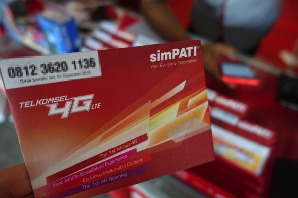 インドネシア:バリ島の空港でTelkomselの4G LTE対応SIMカードを購入!