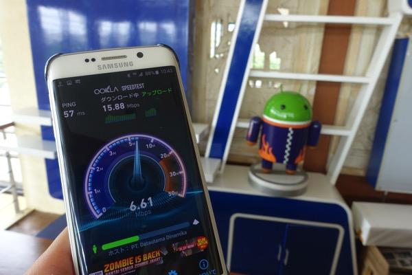 スピードテストでは下り15Mbps程度を記録