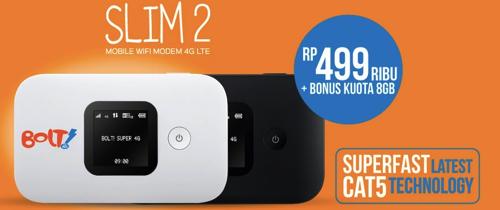インドネシアの「Bolt!」が下り最大110Mbps対応の「SLIM2」を発売