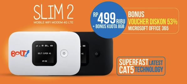インドネシア「Bolt!」のモバイルWi-Fiルータ「SLIM2」が購入できなかった