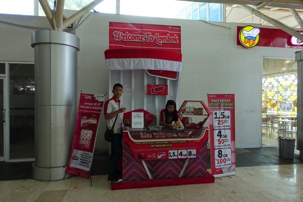インドネシア:ロンボク島の空港でTelkomselの4G LTE SIMカードを購入!ロンボク島内で4G LTEが使える
