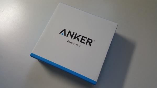 Anker PowerPort 4 パッケージ(表面)