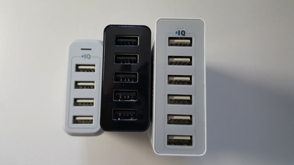 Anker製USB充電器のサイズ比較