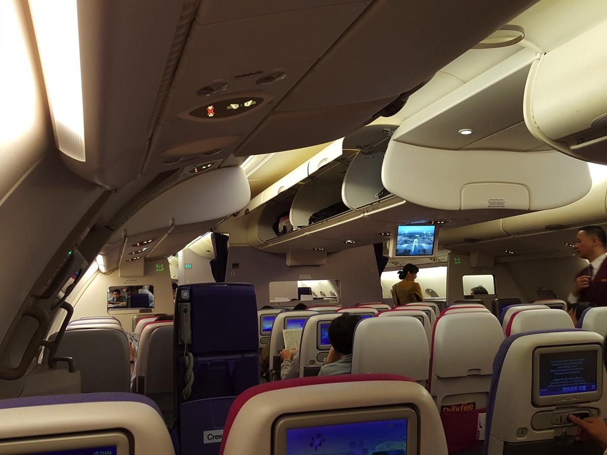 タイ国際航空:A380型機 2F座席
