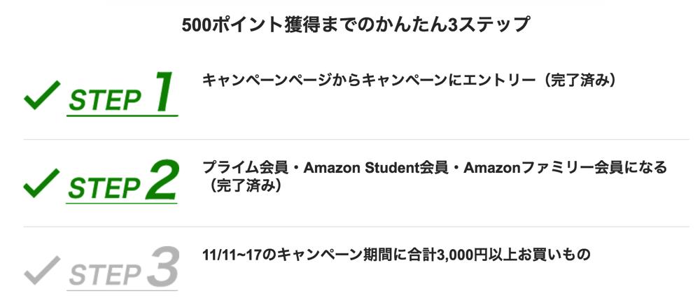 Amazon、3,000円の買物で500円分のポイント還元!プライム会員やStudent限定