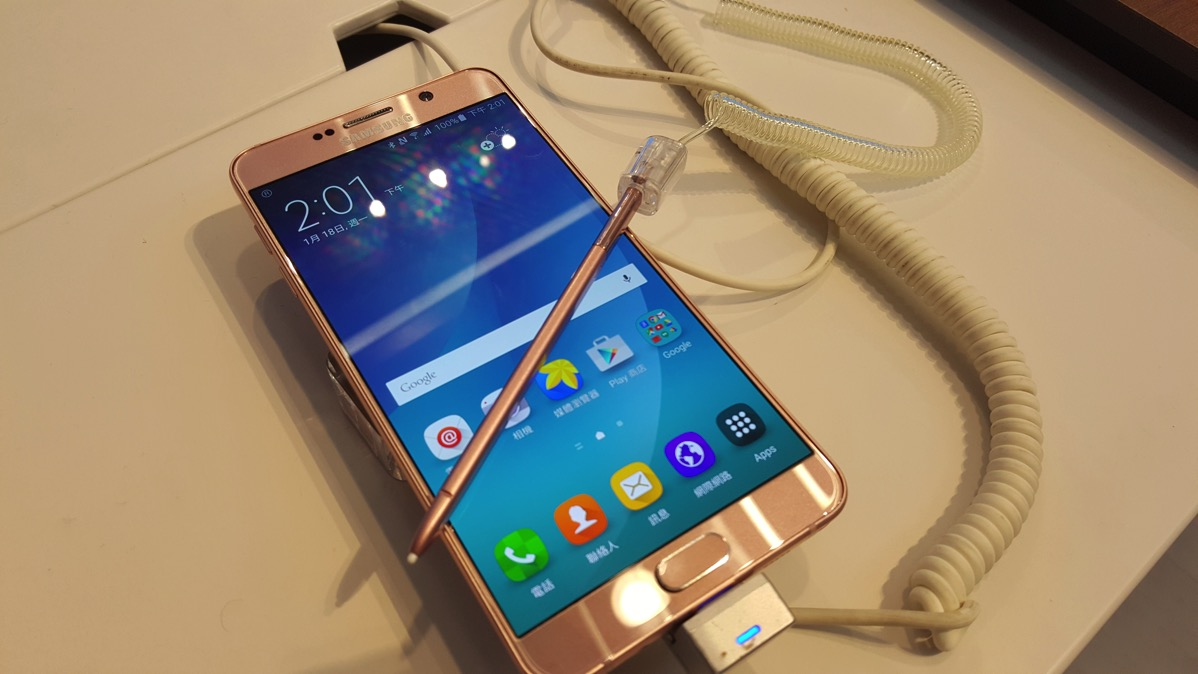 Galaxy Note5(ピンクゴールド)