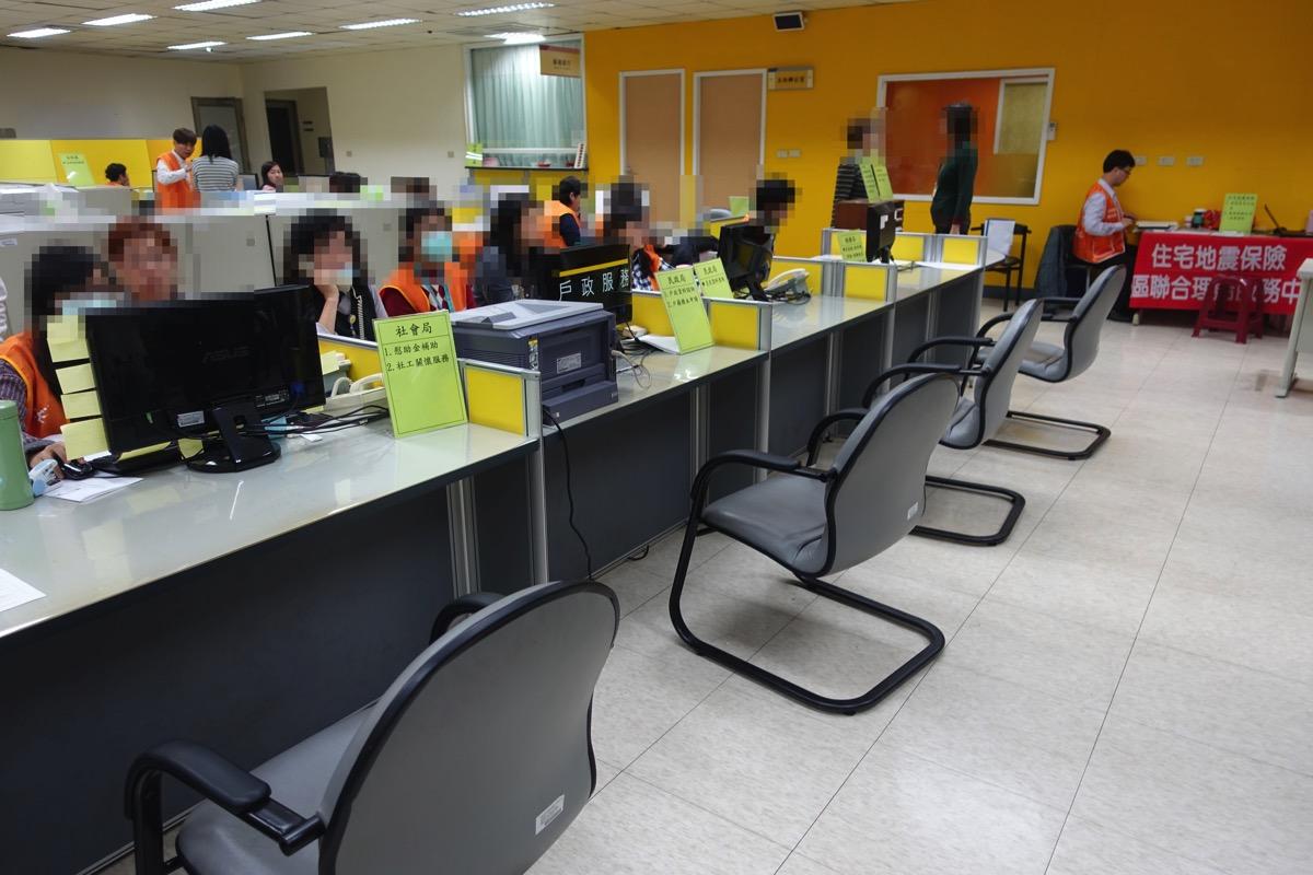 台南市政府に設置された総合対策センター
