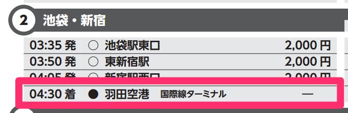 羽田空港国際線ターミナル到着は04:30
