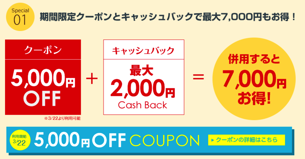 Surprice:1周年記念で5,000円引きクーポンを配布