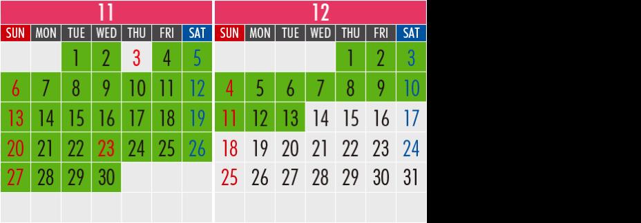 マカオ航空:運賃カレンダー