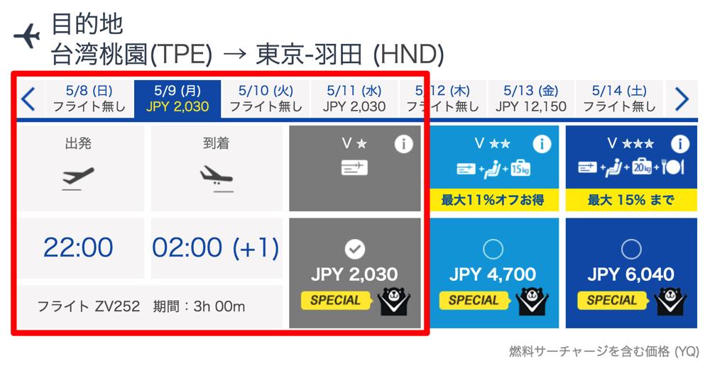 2名以上の往復予約で復路が2,030円