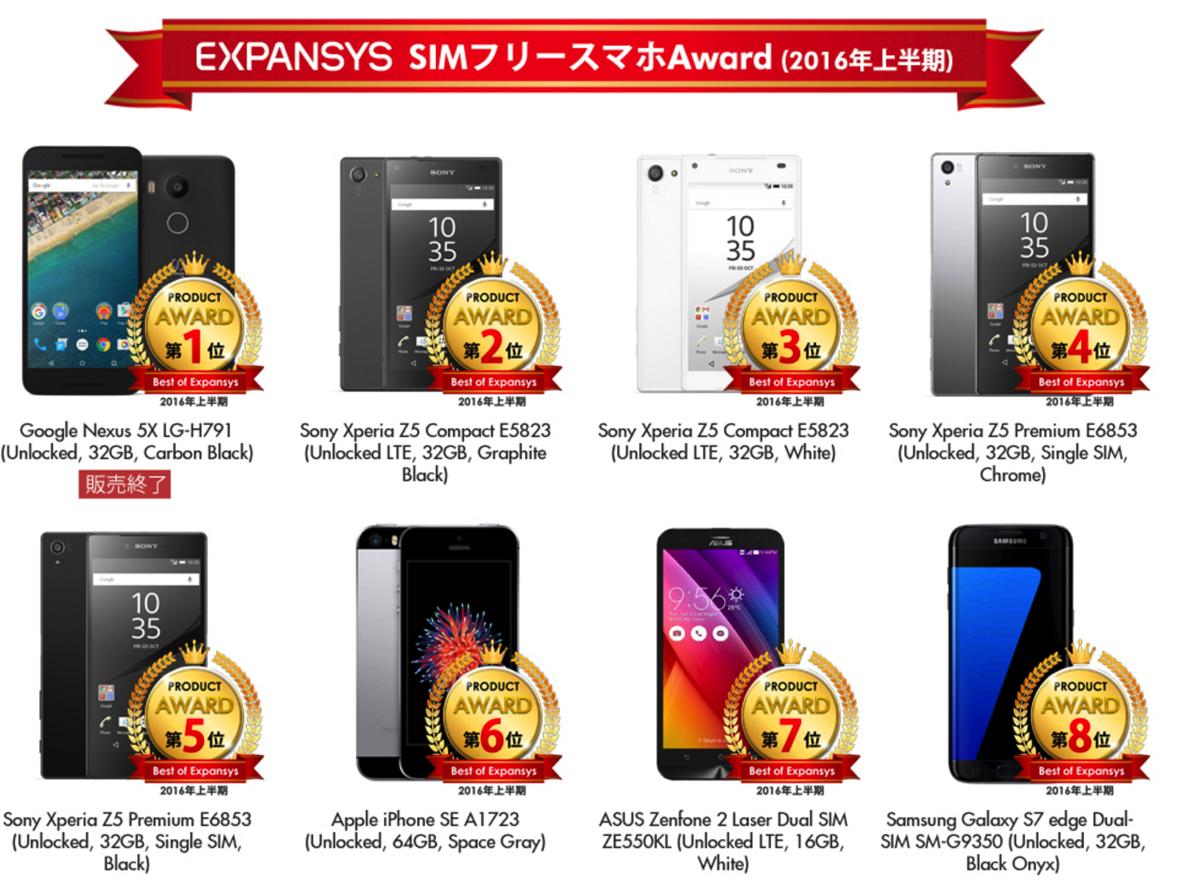 EXPANSYS、2016年上半期の人気スマホ・タブレット・スマートウォッチが2,000円引きになるキャンペーン開催!
