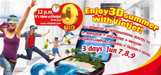 ベトナムのLCC「ベトジェットエア」国内線&国際線が全線チケット代無料!6月7日から3日間限定セール開催