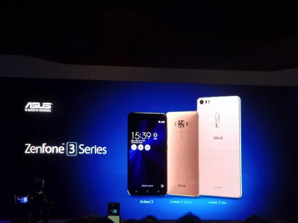 ZenFone 3・ZenFone Deluxe・ZenFone 3 Ultraの3機種が発表
