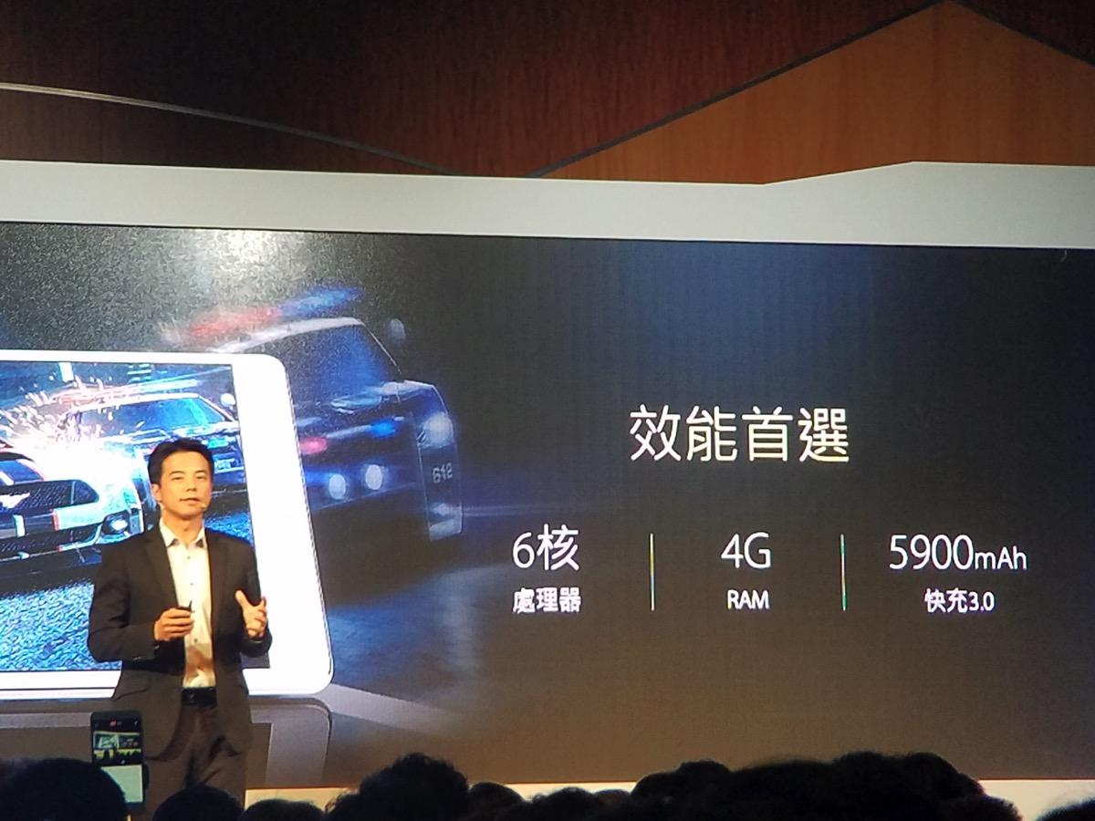 ZenPad 3S 10:CPUは6コア、RAM 4GB、5900mAhバッテリ(QC 3.0対応)