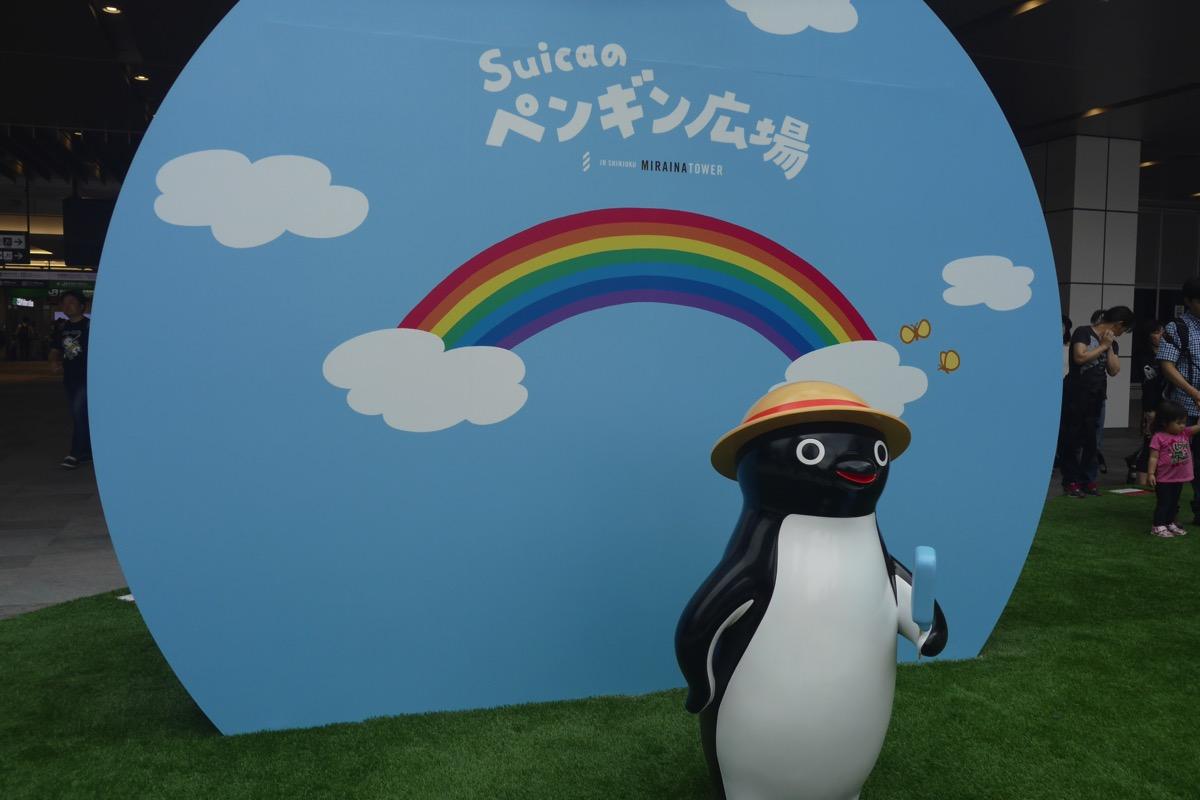 Suicaペンギンのパネル(裏面)