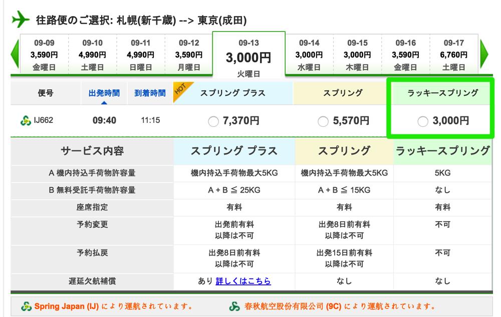 春秋航空日本の「ラッキースプリング」運賃はジェットスター最低価格保証の対象 – 他社価格より10%割引、前泊回避にも使える