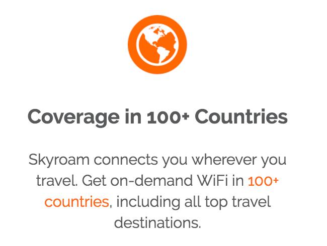セカイルーター「Skyroam」対応エリアが100か国以上に拡大、輸入価格は本体代10,000円以下に
