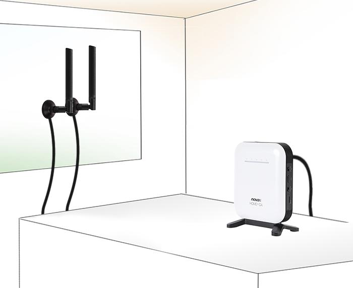UQ、Try WiMAXの貸出機種に下り最大220Mbps対応の据置型ルータ「novas Home+CA」を追加
