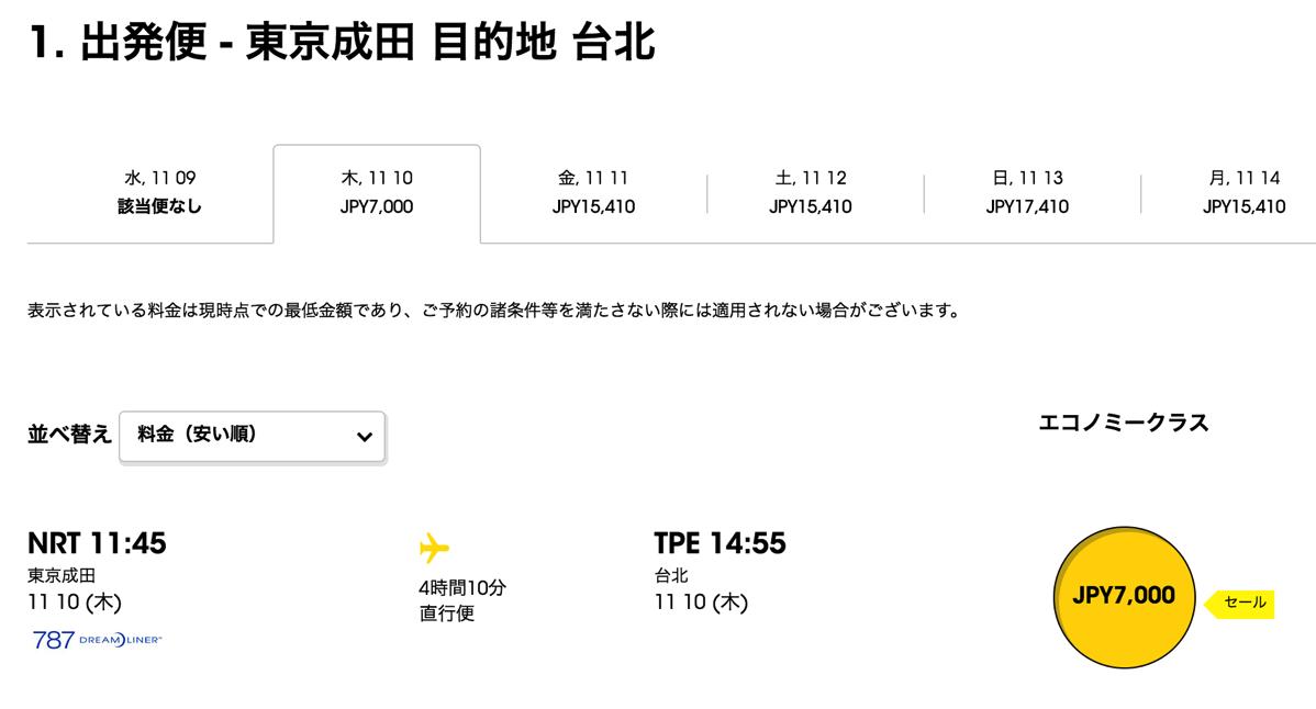 スクート、札幌・東京・大阪から台湾が空港使用料コミで片道7,000円台からのセール開催!