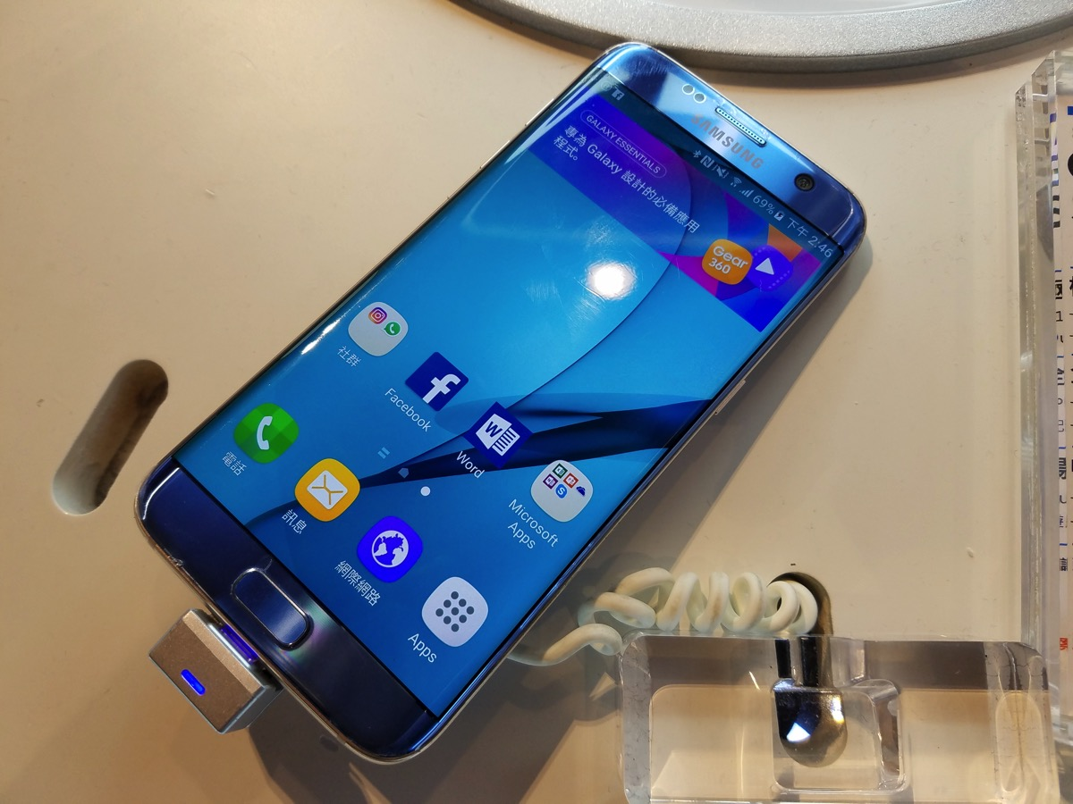 Galaxy S7 edge Blue Coral(台湾版)