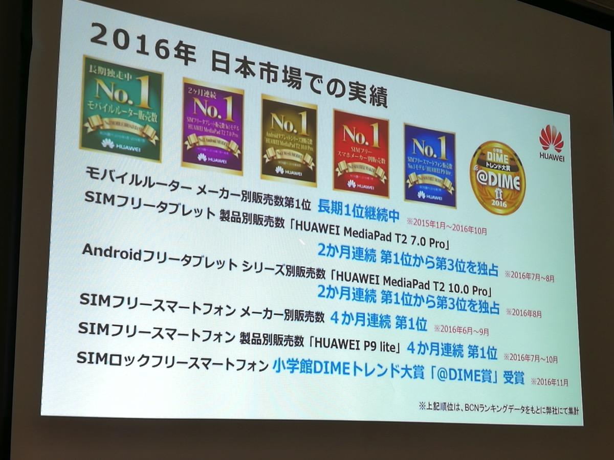 日本国内市場での実績