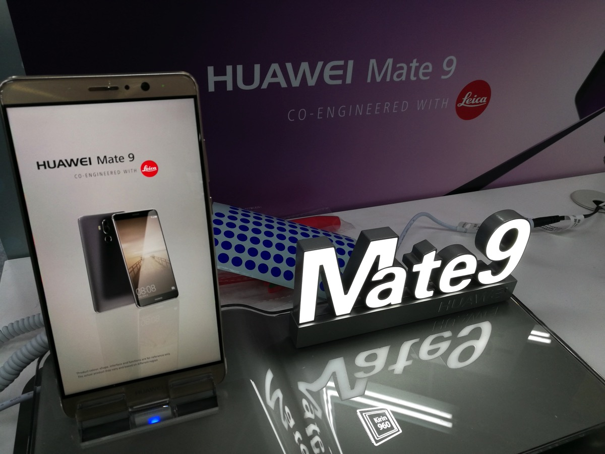 ヨドバシカメラ マルチメディア博多ではMate 9の店頭イベントが開催されていた
