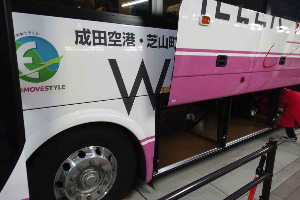 車両はWILLER TRAVEL