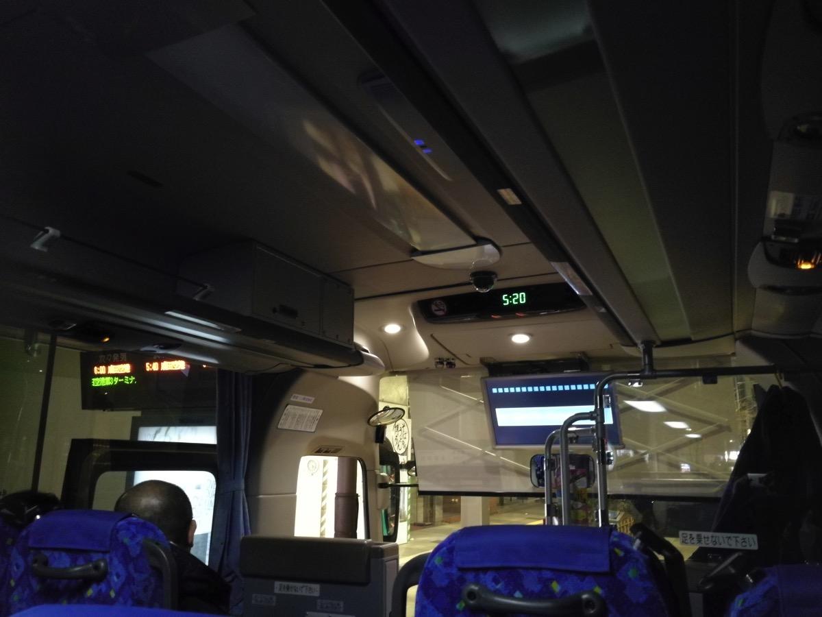東京シャトル:05:20に東京駅を出発するバスに乗車