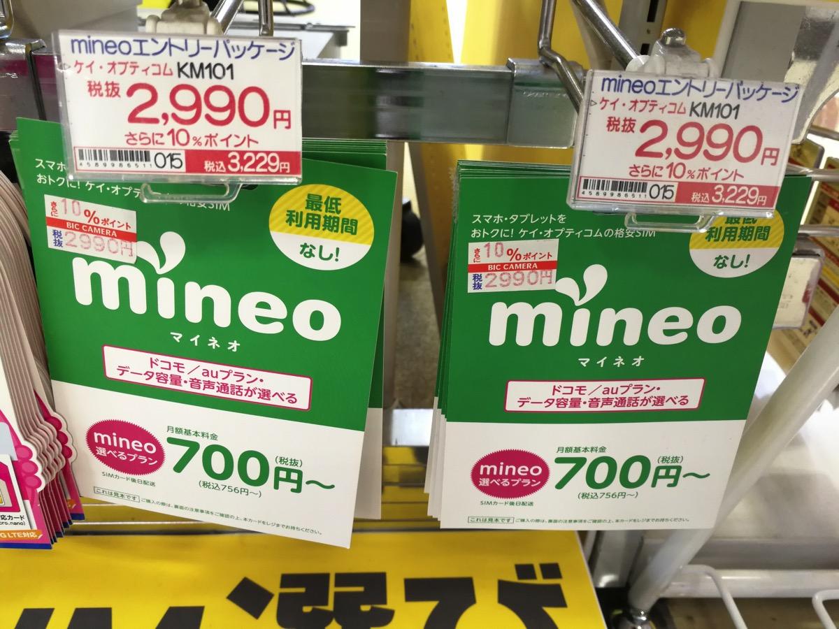 ビックカメラ:販売価格は2,990円