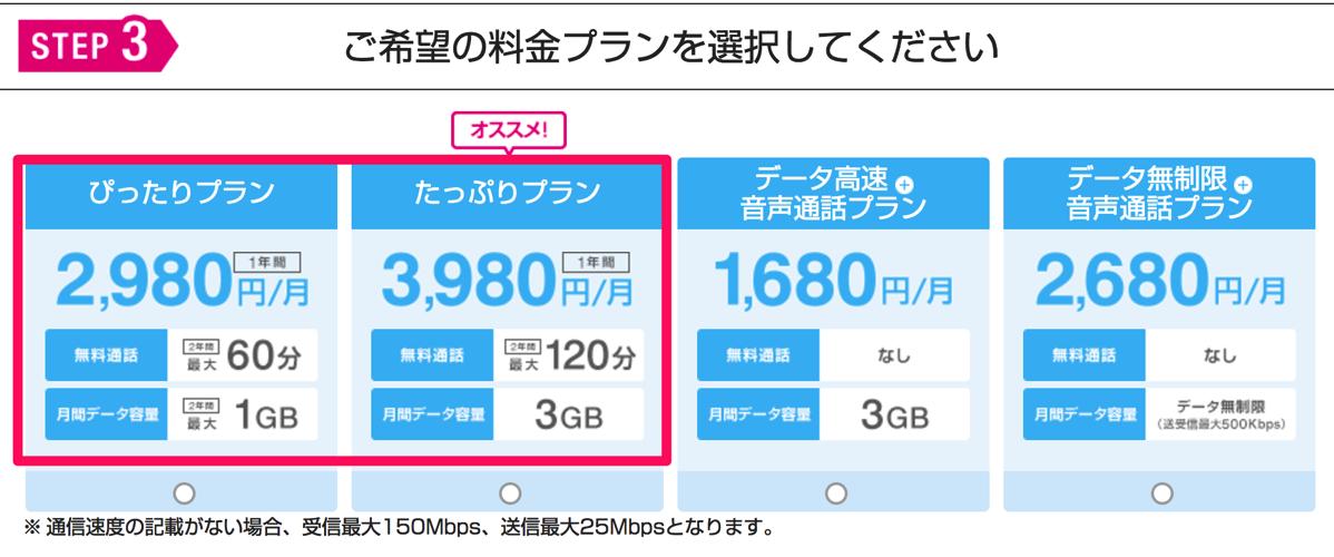 KDDI → UQ mobileに乗り換えた際の月額料金