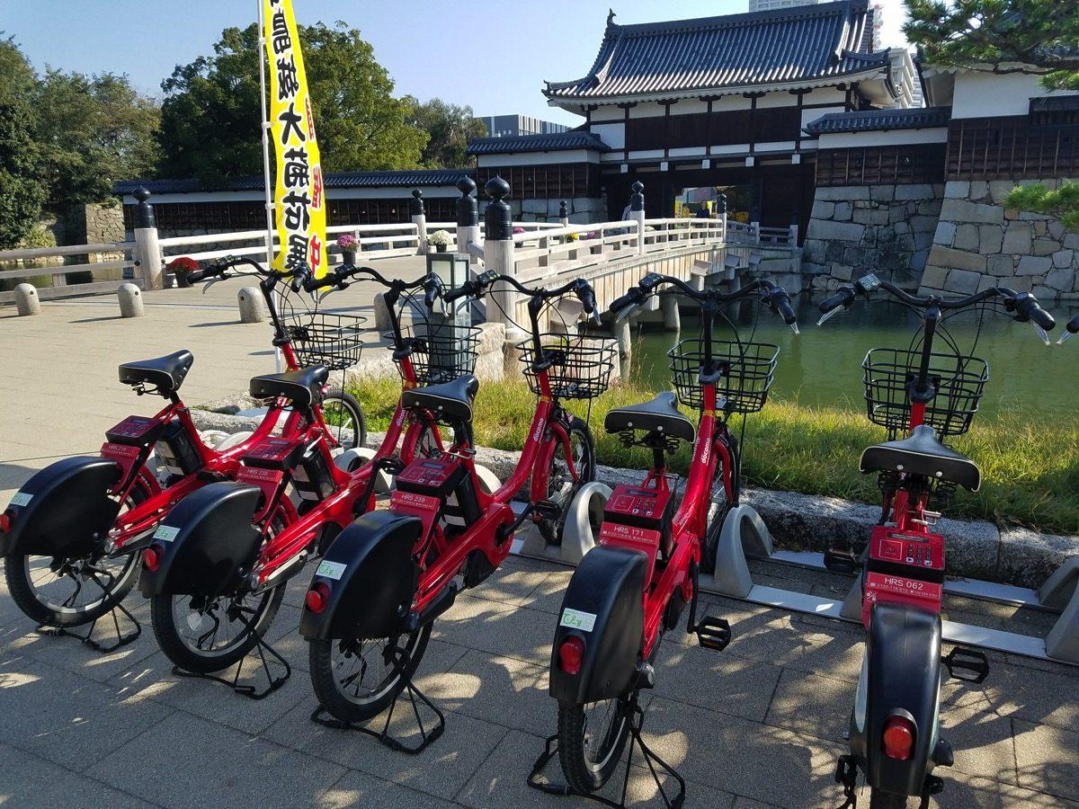 広島市で提供されるレンタサイクル「ぴーすくる」
