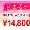 【完売】gooSimseller、SIMフリースマホ入りの「福袋」を40セット限定販売、税別14,800円