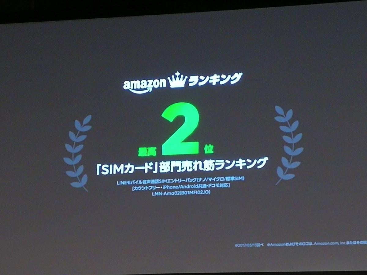 Amazonの「SIMカード」部門売れ筋ランキングは2位