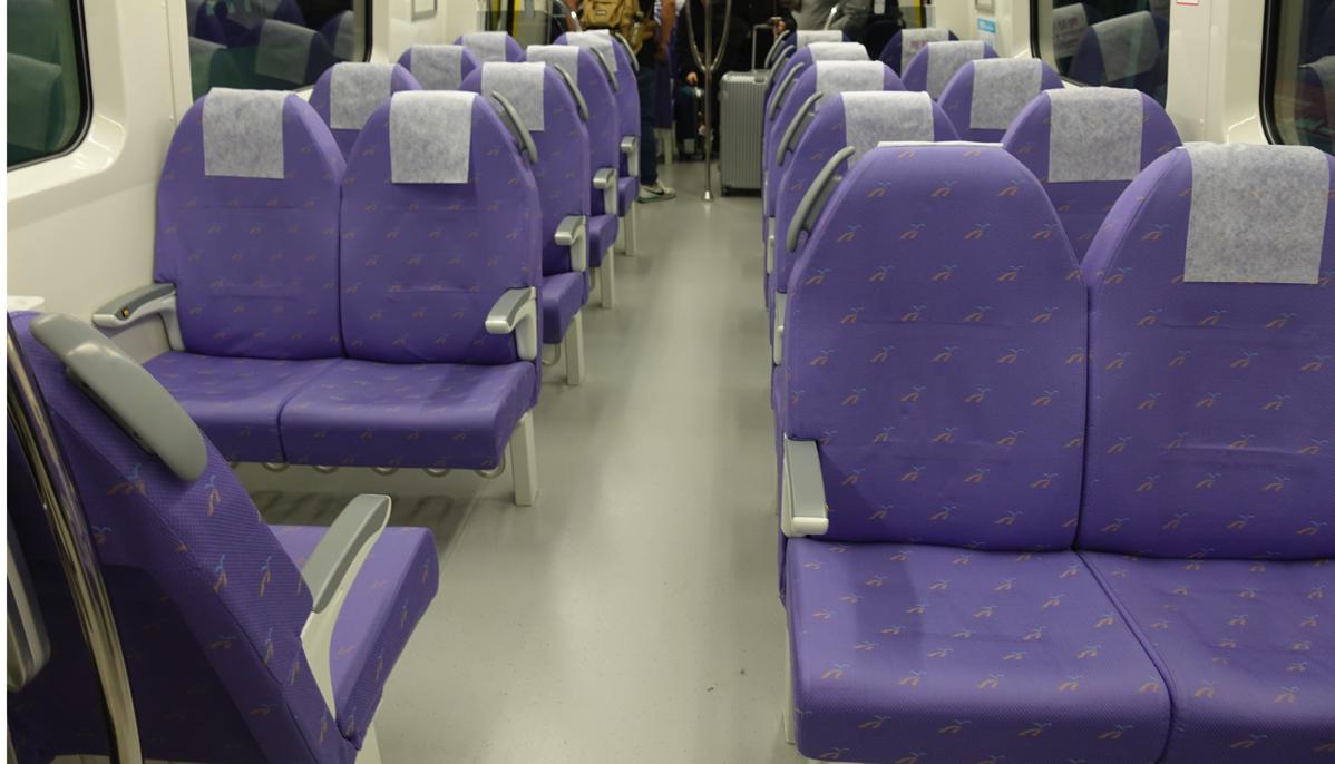桃園空港MRT「直達車」座席