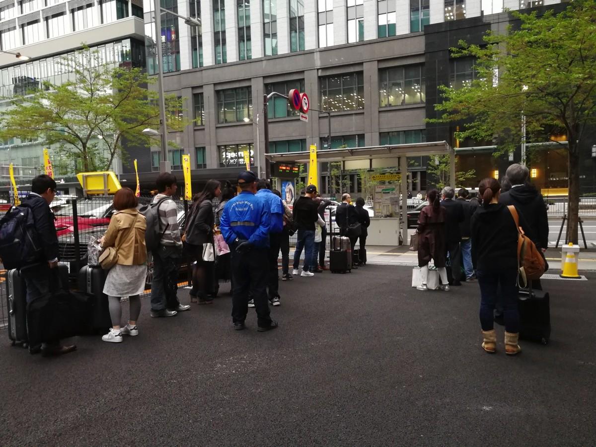 東京駅3番乗り場のバス待機場所が変更