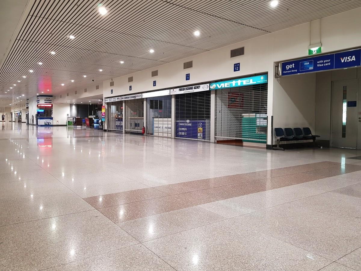 午前4時頃のホーチミン タンソンニャット空港(到着エリア)の様子