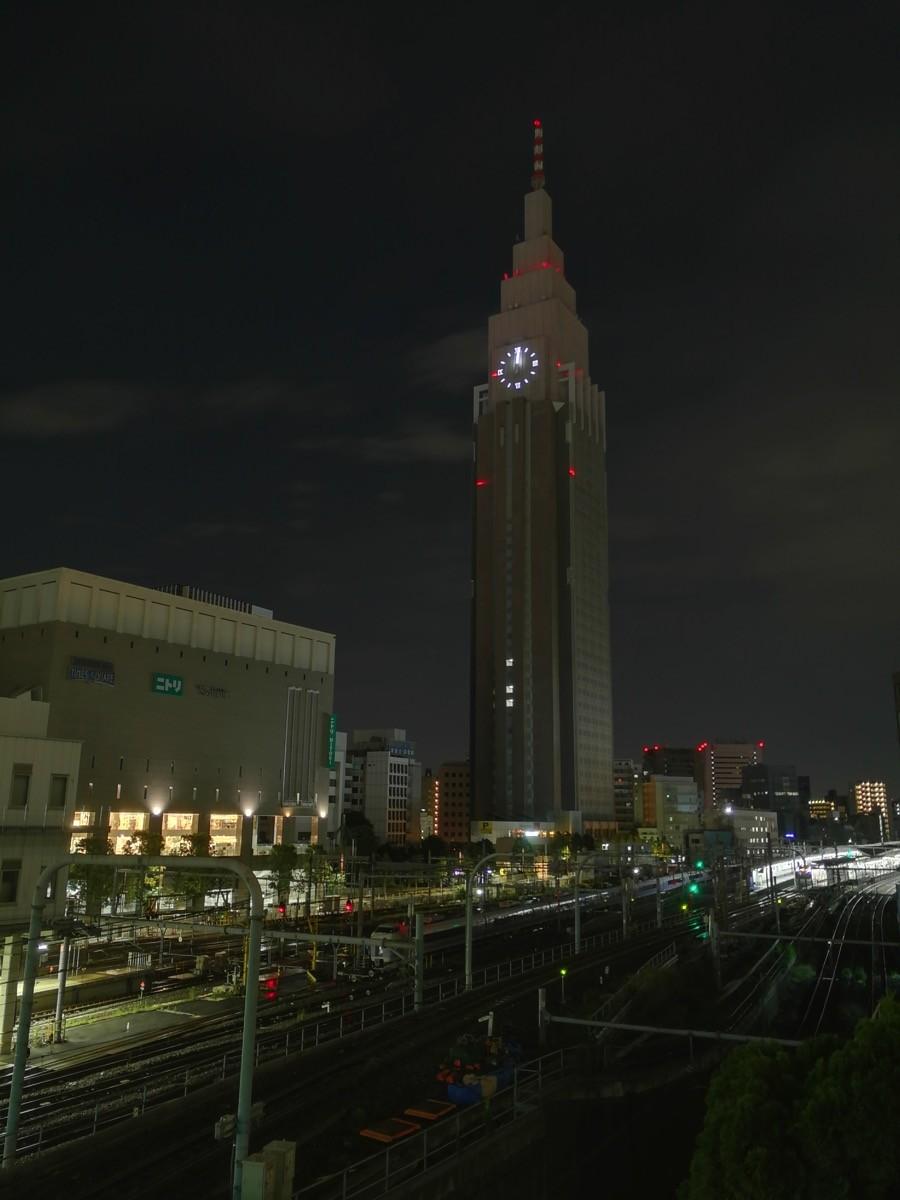 ライトアップの終了後のドコモタワー