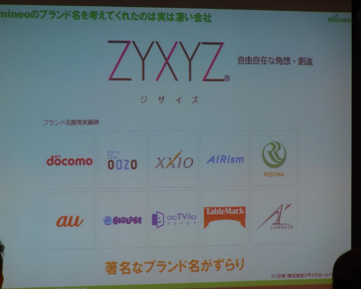 ブランド決定にあたり「ZYXYZ」と連携